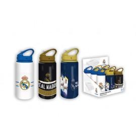 Бутилка за вода Real Madrid алуминий със сламка 500 мл
