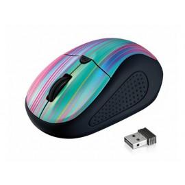 Мишка оптична, безжична, черна/Rainbow, USB, скрол, грип зона