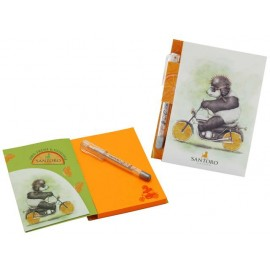 Бележник с химикалка Fruity Scooty - Panda, 9х11.5х1