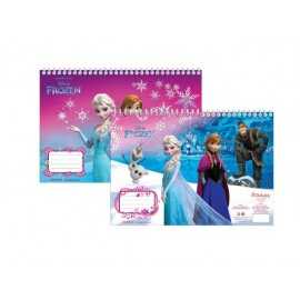 Скицник Frozen, 40 л. + шаблони, линийка, стикери и 2 стр. за оцветяване