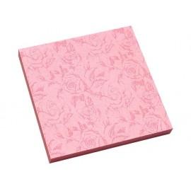 Листчета лепящи с розови рози 75х75 мм, 80 л.