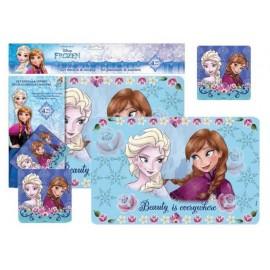 Подложка за бюро Frozen, 2 бр. + подложка за чаша, 2 бр.