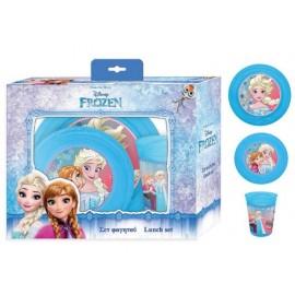 Комплект за хранене Frozen, чиния, купа, чаша