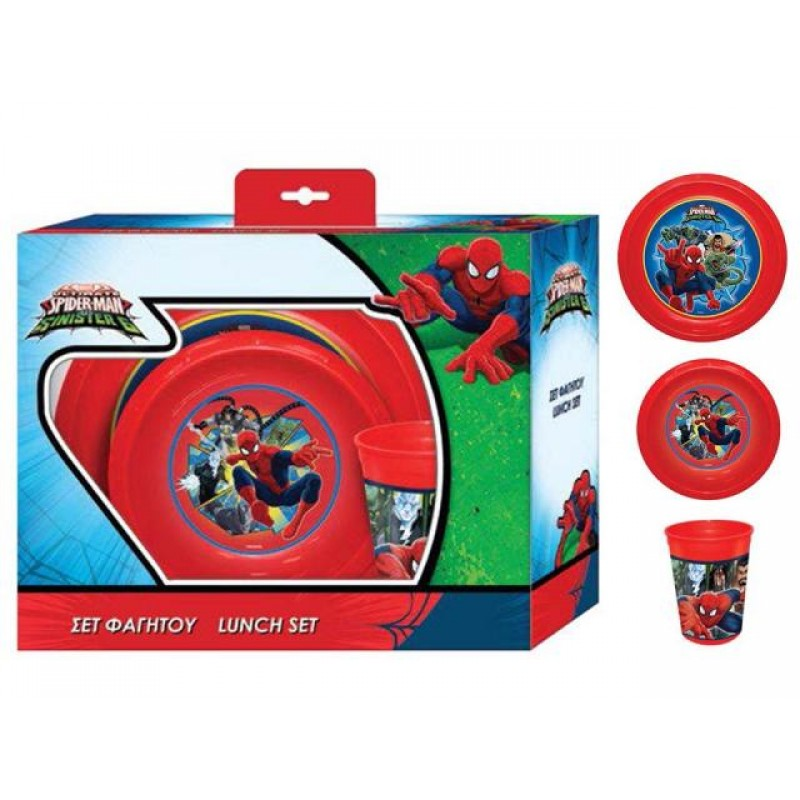 Комплект за хранене Spider-man, чиния, купа, чаша