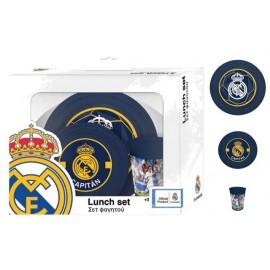 Комплект за хранене Real Madrid, чиния, купа, чаша