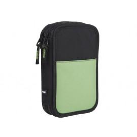 Несесер зареден двоен Compact Fluo зелен 20x13x5