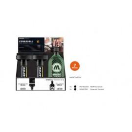 Маркер покриващ + мастило Masterpiece signal black, дисплей (7 бр.) COVERSALL™