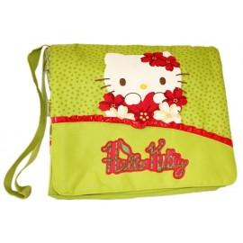 Чанта с дълга дръжка и капак Hello Kitty Cherryland мента 30х10х25