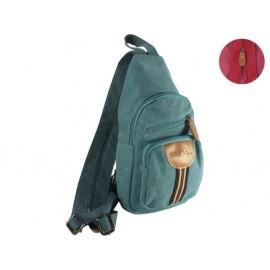 Раничка с цип и 2 джоба Precious Blue, 32x18x7