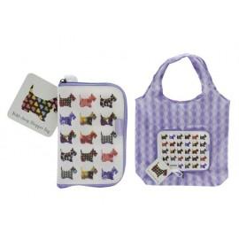 Чанта пазарска сгъваема Scottie Dogs10.5х16х1.5