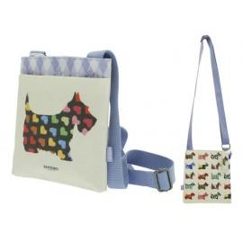Чанта за рамо с покритие Scottie Dogs, 22х20х2