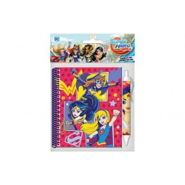 Бележник спирала с химикалка Superhero Girls, 10х15 см