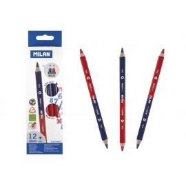 Молив син/червен Maxi, триъгълен, Ø 5.0 мм графит