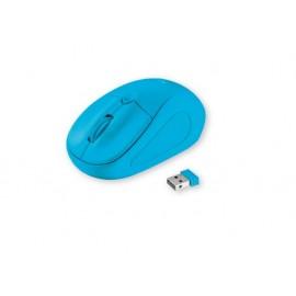 Мишка оптична, безжична, синя, USB, скрол, вкл. 2 батерии ААА