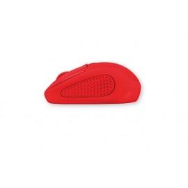 Мишка оптична, безжична, червена, USB, скрол, вкл. 2 батерии ААА