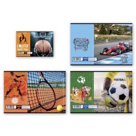 Тетрадка мат/UV Sports, 60+2 л.ред, 70 г/м2