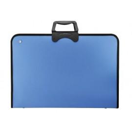 Чанта за чертежи Pro Art с цип, 370x540, синя