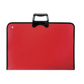 Чанта за чертежи Pro Art с цип, 370x540, червена