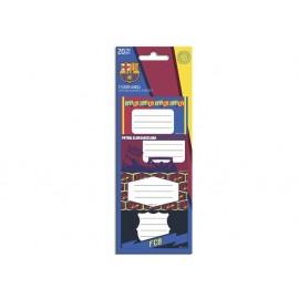 Етикети за тетрадки Barcelona, 20 бр.