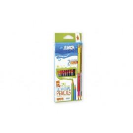 Моливи двувърхи 12 x 2 цв., Ultra dual