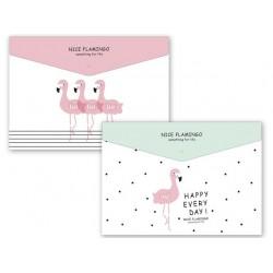 Папка с копче, A4, PP, Nice Flamingo
