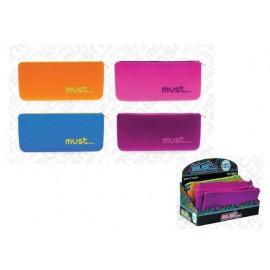 Несесер плосък силиконов Focus Multi Colours, 21x10